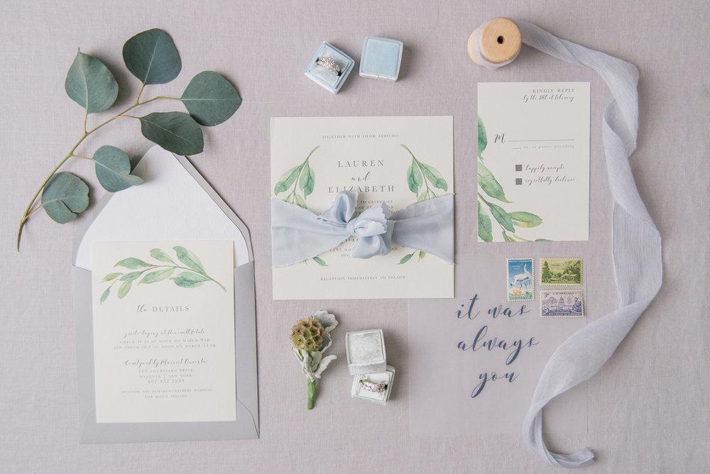 simple modern wedding invitation photography
