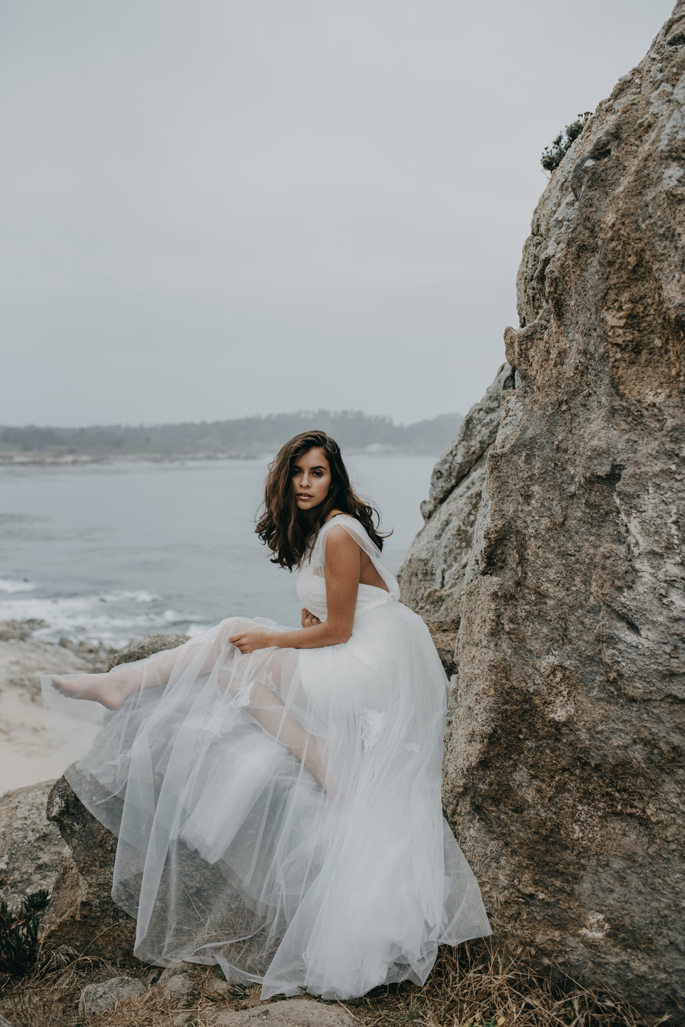 """Dennese's measurements are: Height 5'3 / Bust 32"""" / Waist 26"""" / Hip 32""""   All Lyra Vega Bridal gowns are    custom made to measure"""