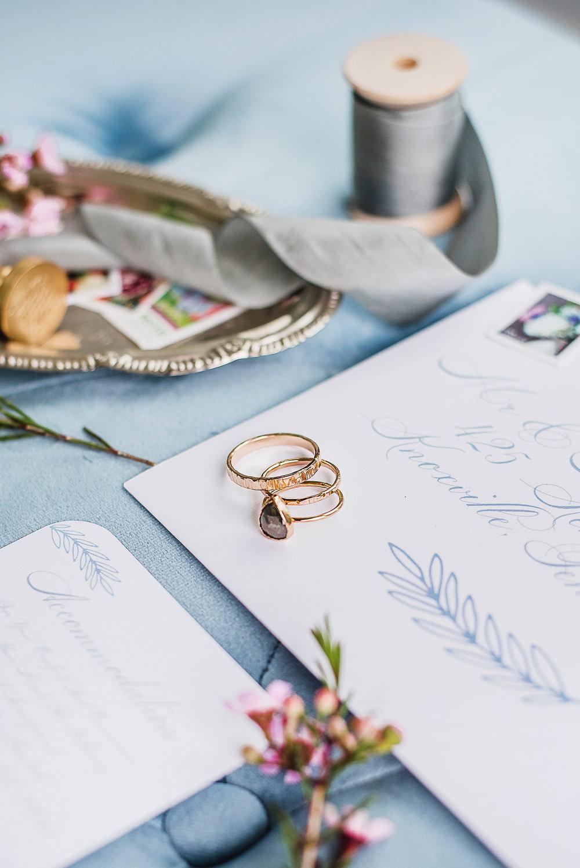 blue inspired wedding vintage wedding ring summer wedding