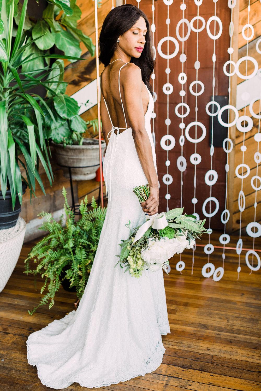 simple modern wedding dress sheath fit slip wedding dress