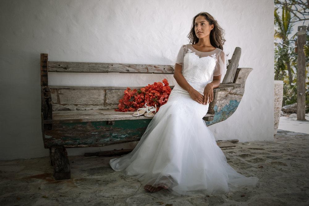 turks and caicos destination wedding, graceful wedding gowns under $1000