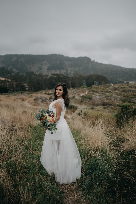 simple modern wedding dress beach wedding photoshoot