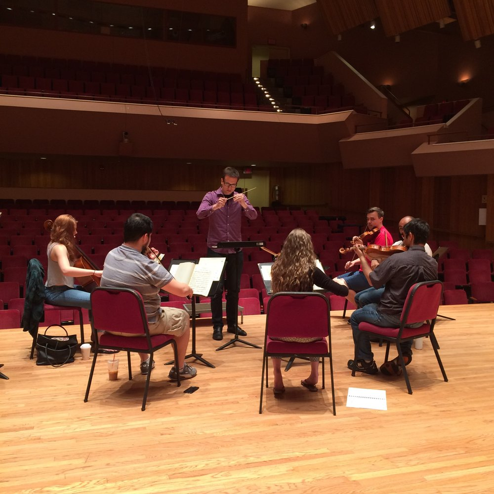 Scott Gentile '17 rehearses Grieg  Holberg Suite