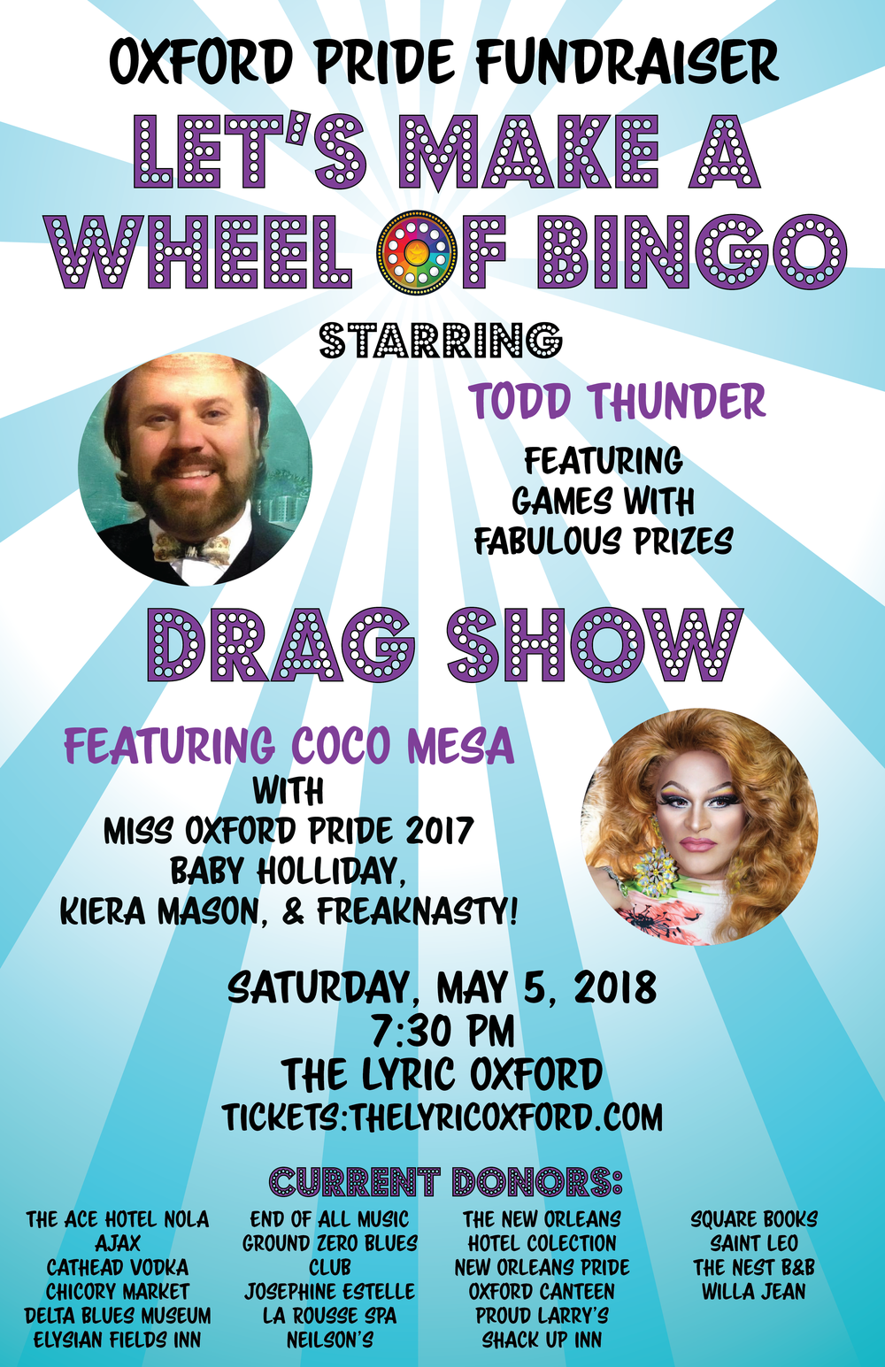 Poster for Pride Fundraiser