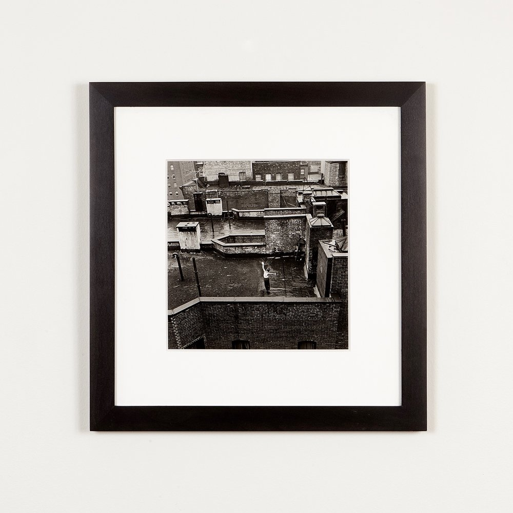 Arthur King silver gelatin print in black maple frame