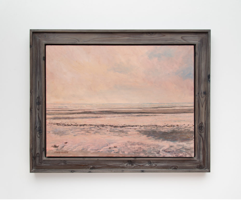 Cheryl Crews oil on canvas in cedar float frame with grey wash finish