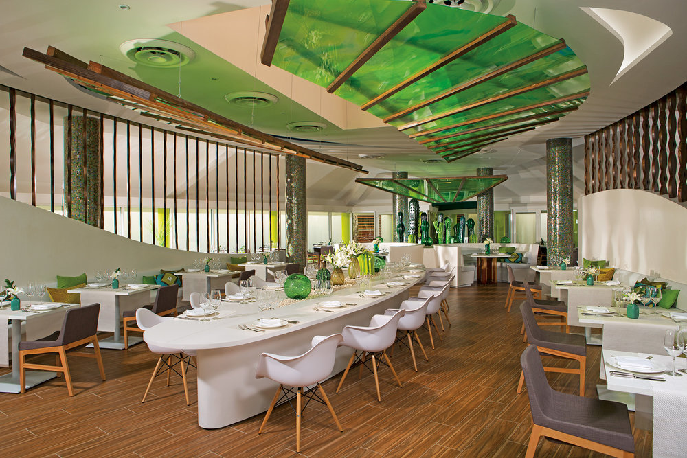 One of 10 restaurants at Breathless