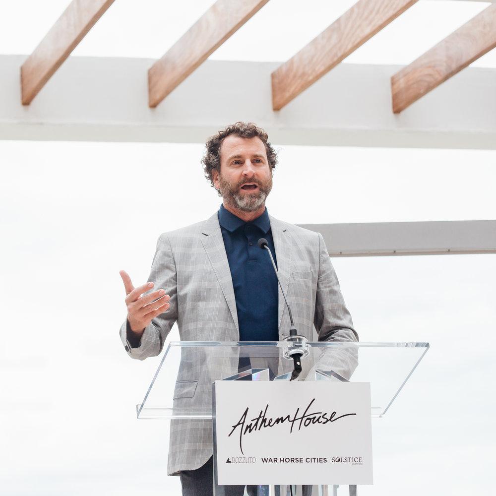 Scott Plank speaking at Anthem House