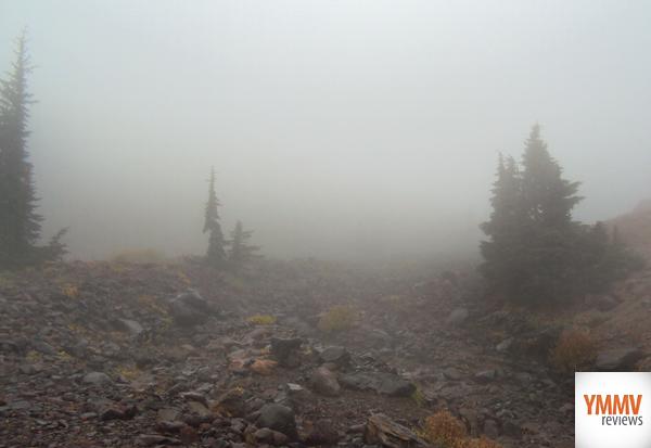 A smoky descent -