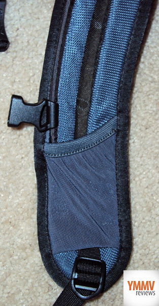 Strap with small pocket -
