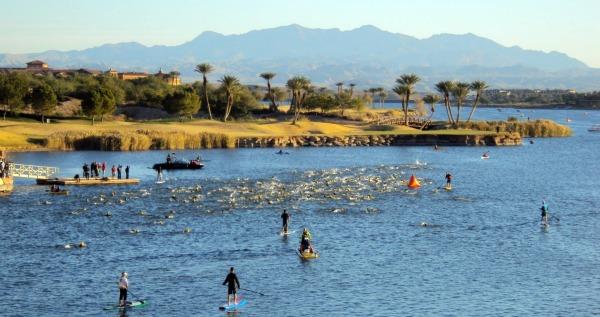 Swimming in Lake Las Vegas -