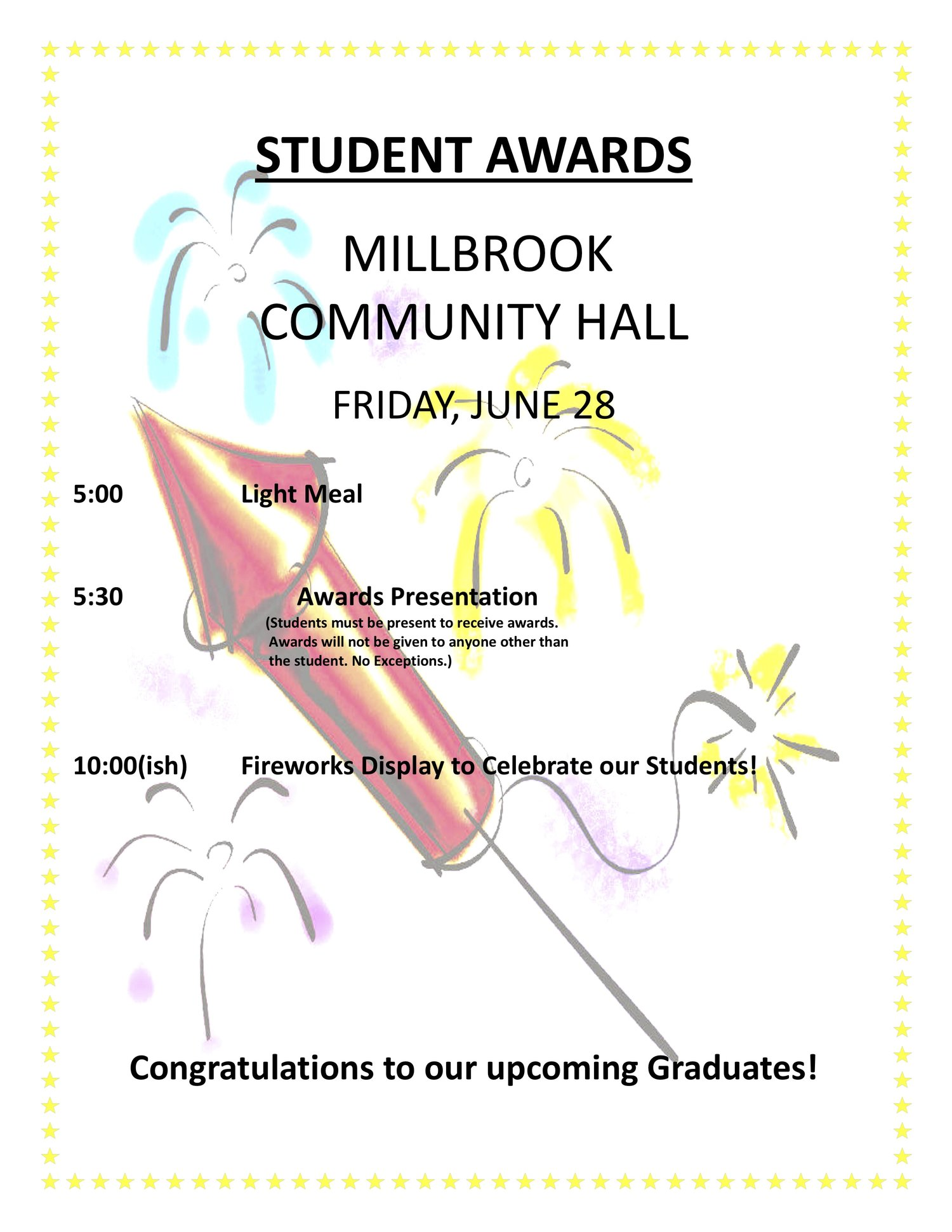 Students Awards - Millbrook Community Hall — Millbrook First Nation