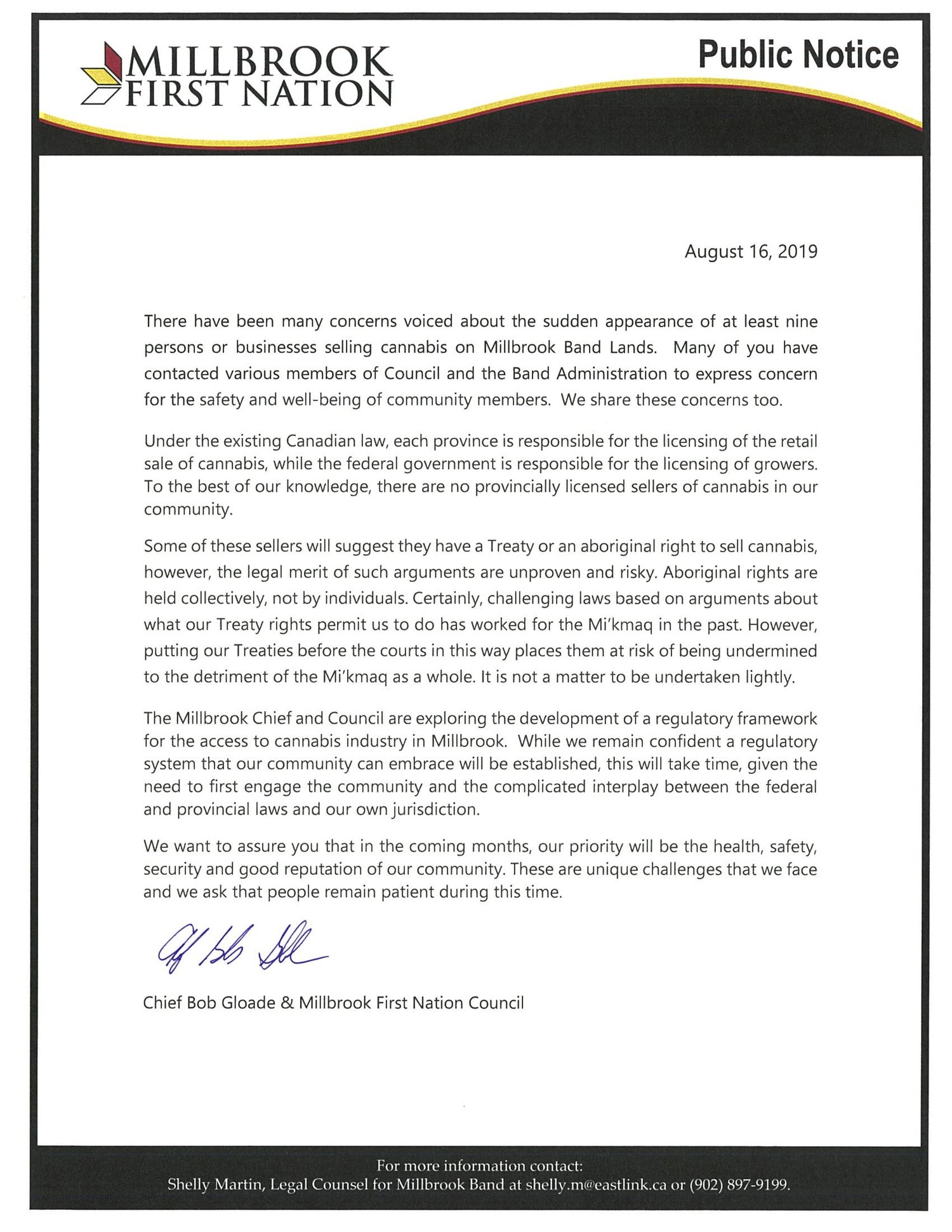 Chief and Council — News — Millbrook First Nation