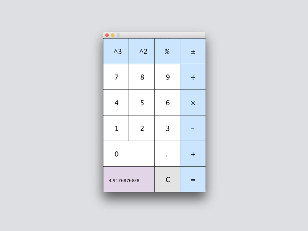 calculator  made with java, in processing IDE 2016