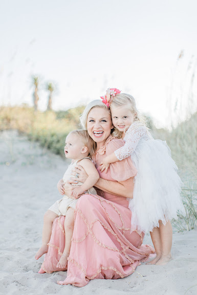 "Savannah Guss of Boho & Bows - Savannah Guss is a native Charlestonian and stay at home mom to 3.5 yr old Coco & 1.5 yr old Benji. After giving birth to her second child, she found herself feeling totally stuck in what she refers to as her ""stay at home mom identity crisis."" Determined to finally change the narrative for herself, she created a life & style blog with the intention of encouraging others through fashion, family & faith. Since then, her blog & social media presence has successfully taken off through sharing her real, usually hilarious & encouraging life moments & truths, love for budget friendly fashion finds & work with local Charleston boutiques."