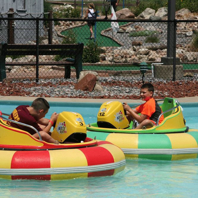 Splash Zone Bumper Boats - Squeals, splashes and the patented