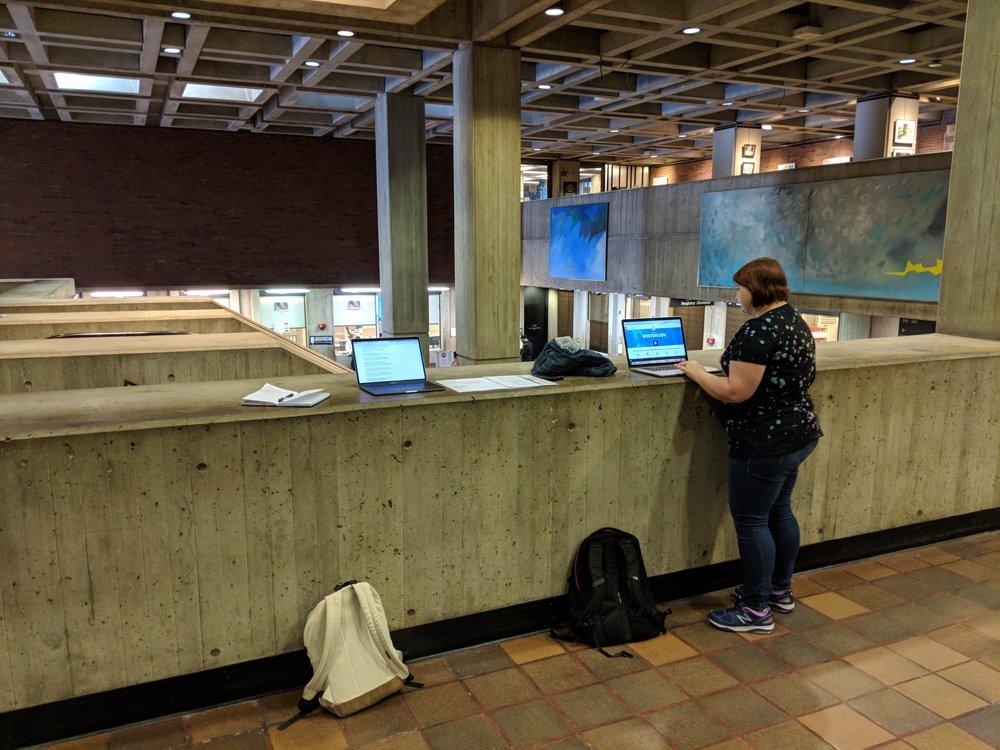 Testing at City Hall