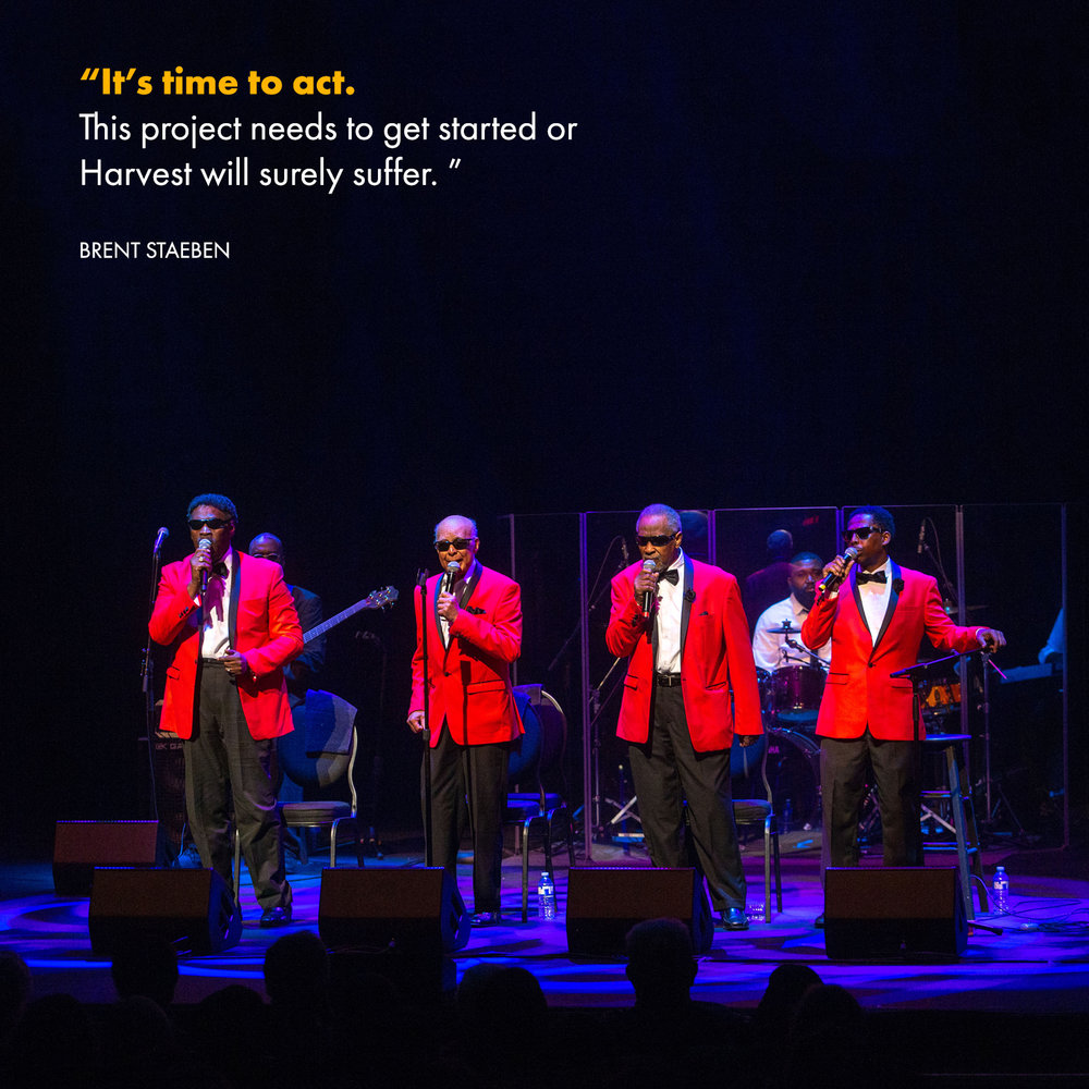 Blind Boys of Alabama perform at the current Fredericton Playhouse at Harvest 2018. A new Performing Arts Centre is important to having artists like them performing in the community.