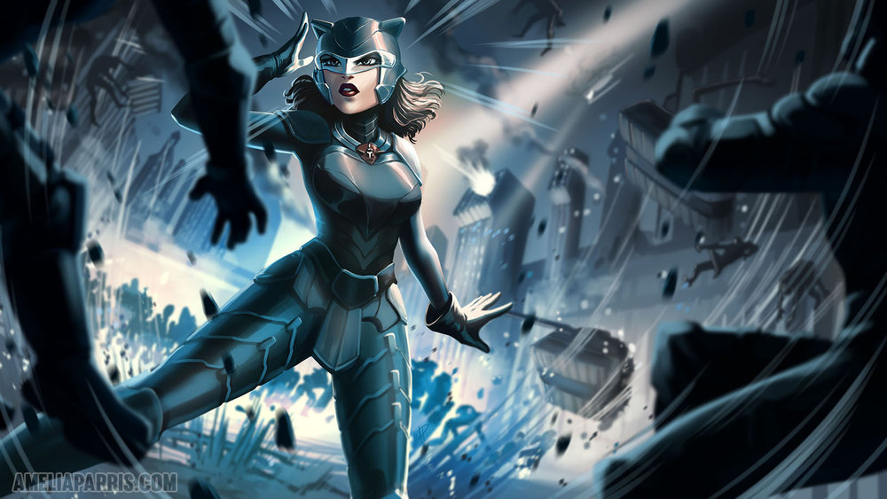 "Illustration of Kit from ""Super Sales on Super Heroes"""