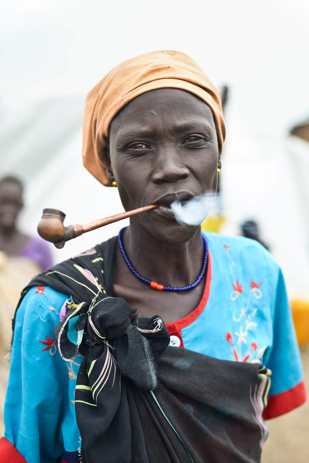 An elderly woman from Rubkona county moved to the UN camp in June 2015 after soldiers threatened her if she stayed in Bentiu town.