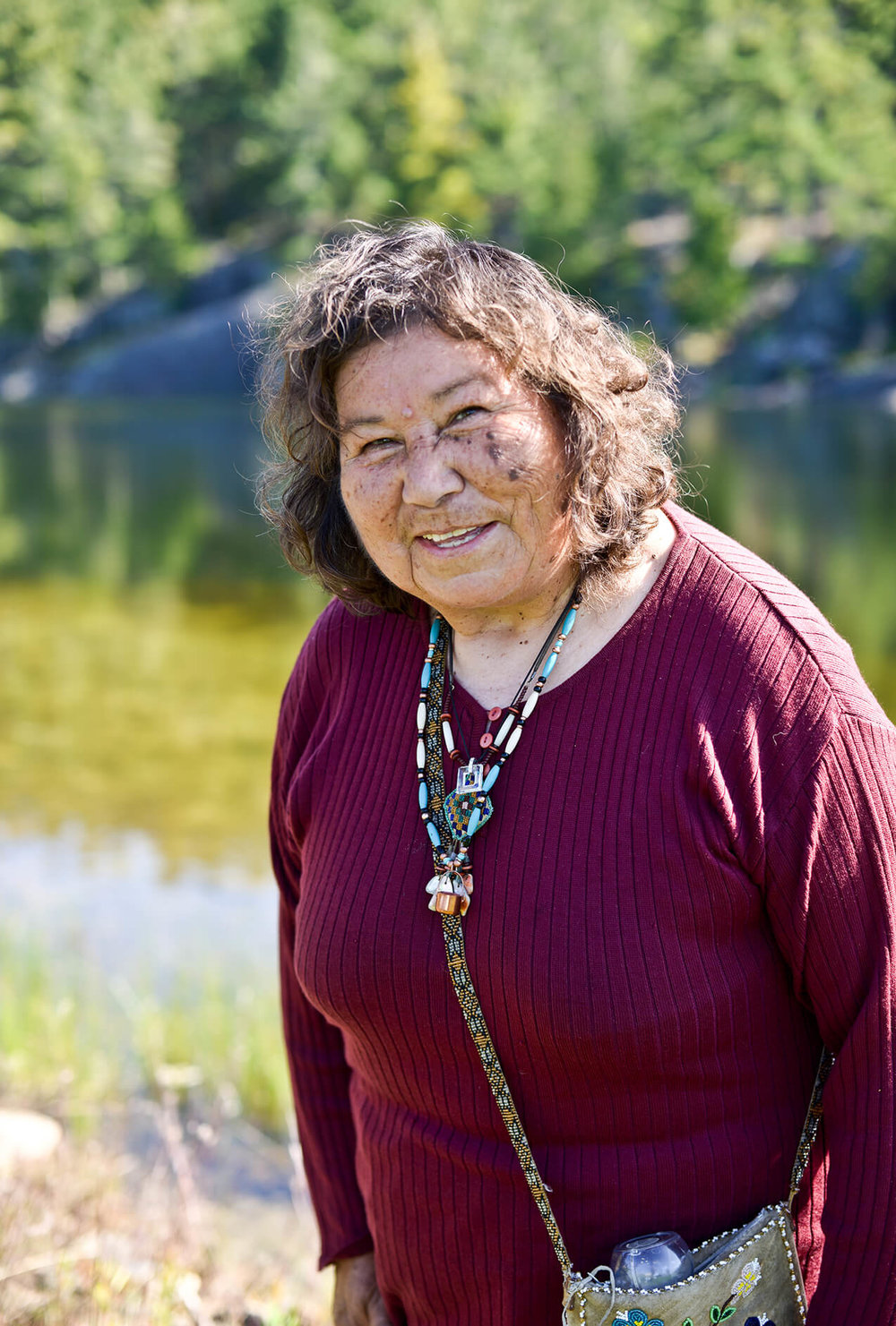 Josephine Mandamin, from the Wikwemikong Unceded Indian Reserve and known as the Water Walker, pictured after a water ceremony and elder circle in Whitefish River First Nation.