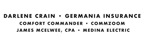 Darlene Crain - Germania Insurance, Comfort Commander, CommZoom, James McElwee, CPA, Medina Electric