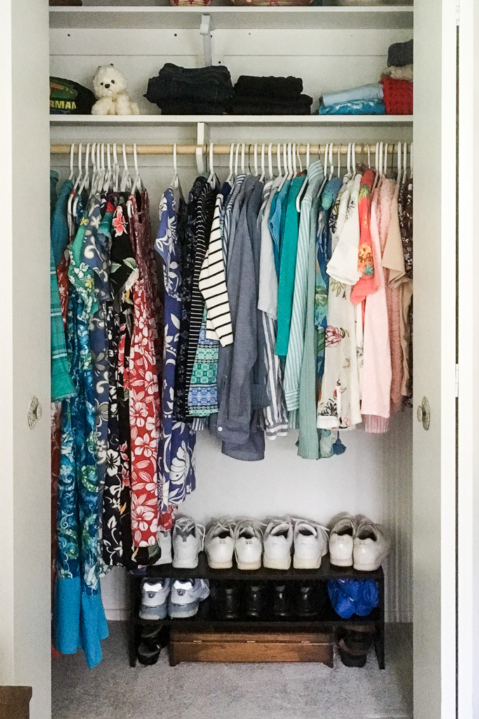 My mom's closet after using the KonMari Method!