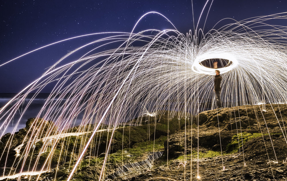 Steel Wool - California Coast // Photographer: Michelle Tomaszkowicz // Canon 5D Mark III + Canon 24-70mm f/2.8L II // ISO 1000, f/5.6, 30