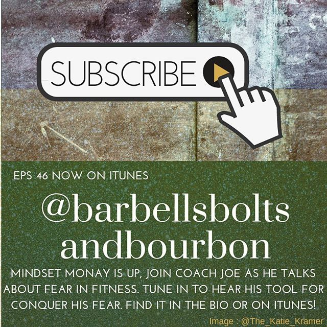 FEAR happens in fitness! Tune-in for a tip for conquering it! Link is in the bio. . . #barbellsboltsandbourbon #train #build #enjoy #podcast #episode #fear #episode #record #training #fitness #fitnessingeorgia #keepmakingithappen