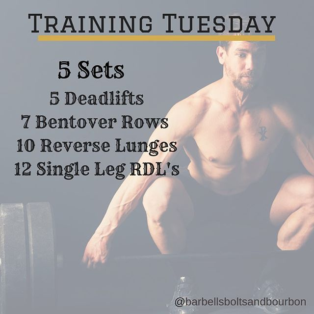 Get your training in! #trainingtuesday #barbellsboltsandbourbon #keepgoing #training #barbells #deadlifts #dayofdeadlifts #deadlift #makeithappen