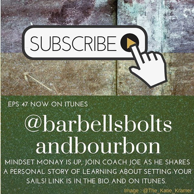 If you missed it, Mindset Monday is up! Check it out in iTunes or the link is in the bio! #barbellsboltsandbourbon #train #build #enjoy #episode #podcast #47 #record #training #sail #setyoursail #control #fitness #fitnessing