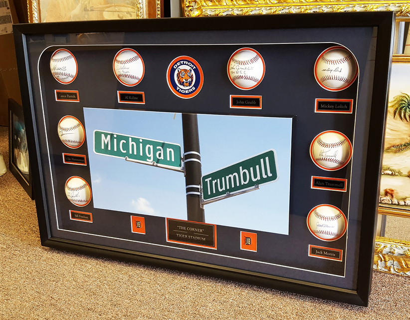 Signed Detroit Tigers Baseballs Framed