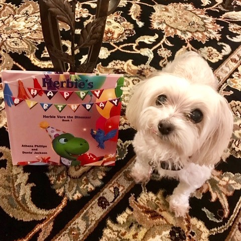 Precious Tula was rescued from a puppy mill. She also loves hearing about Herbie Vore the Dinosaur!