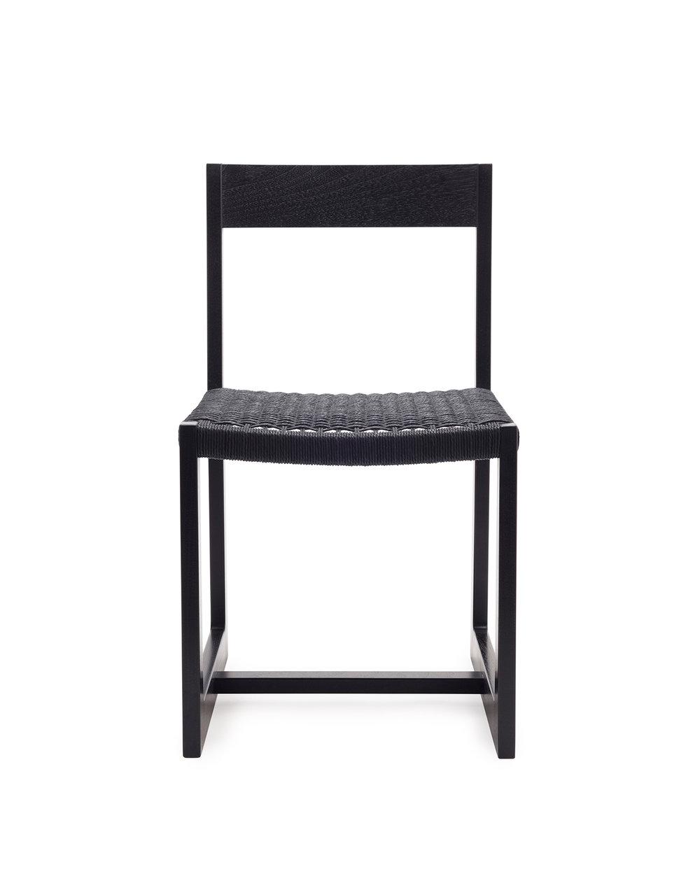 Matteawan chair in ebonized walnut and black Danish cord