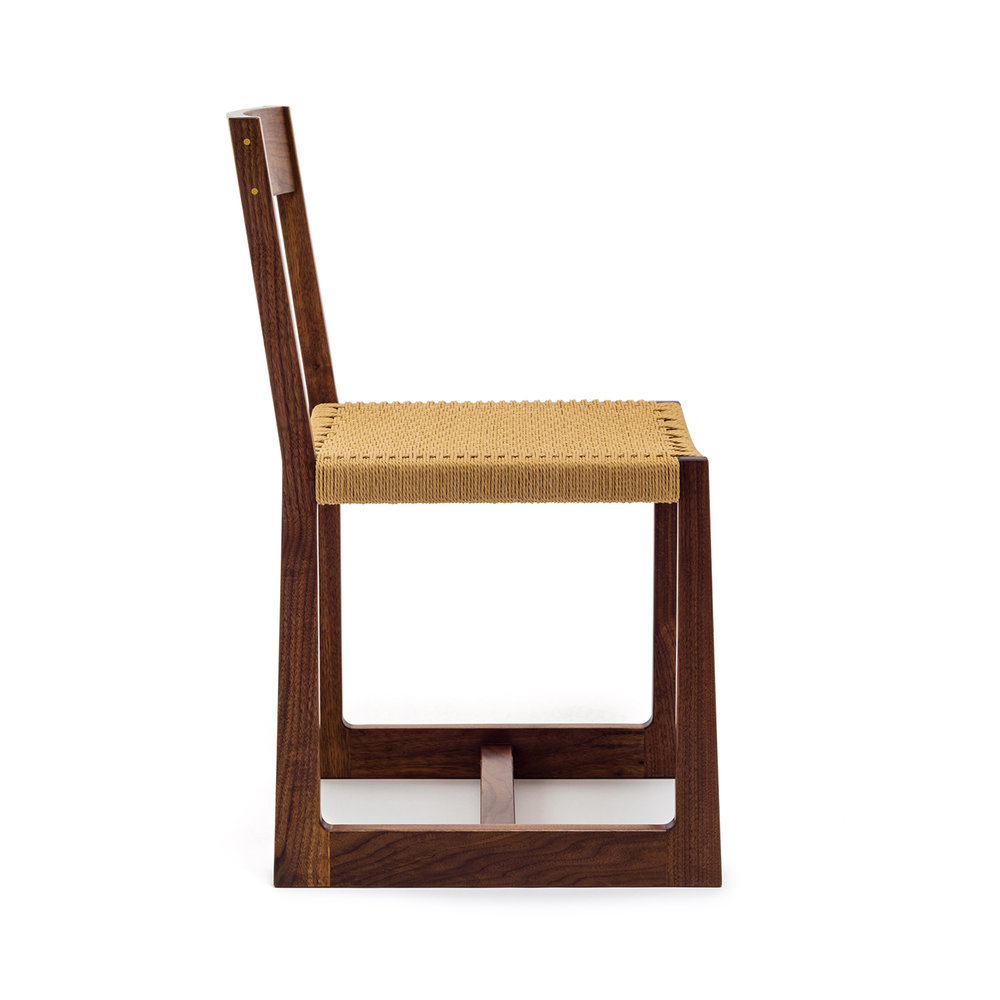 Matteawan chair in walnut and natural Danish cord