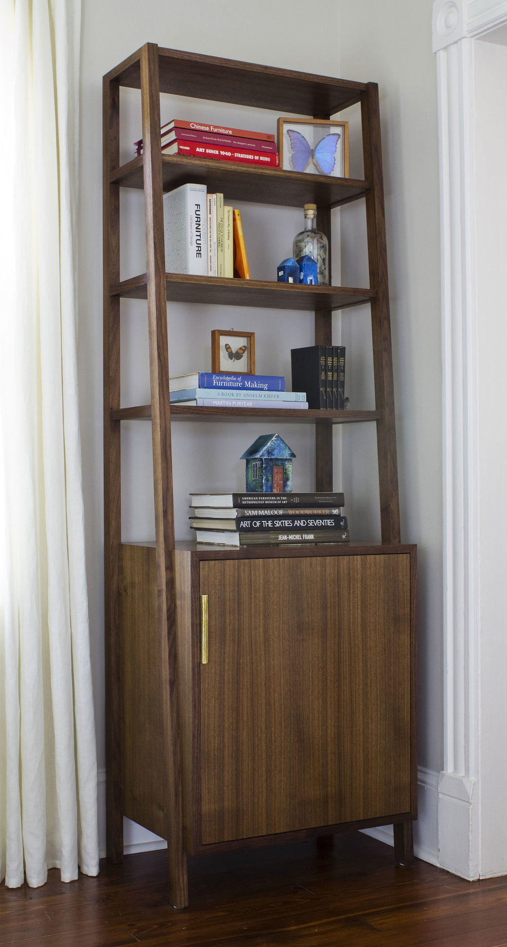 The Rivers bookcase in walnut