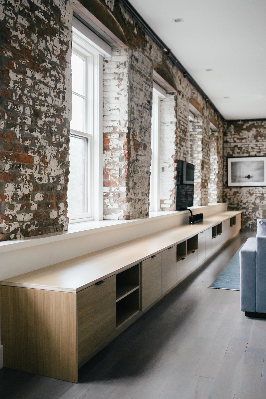 Custom media storage and bench