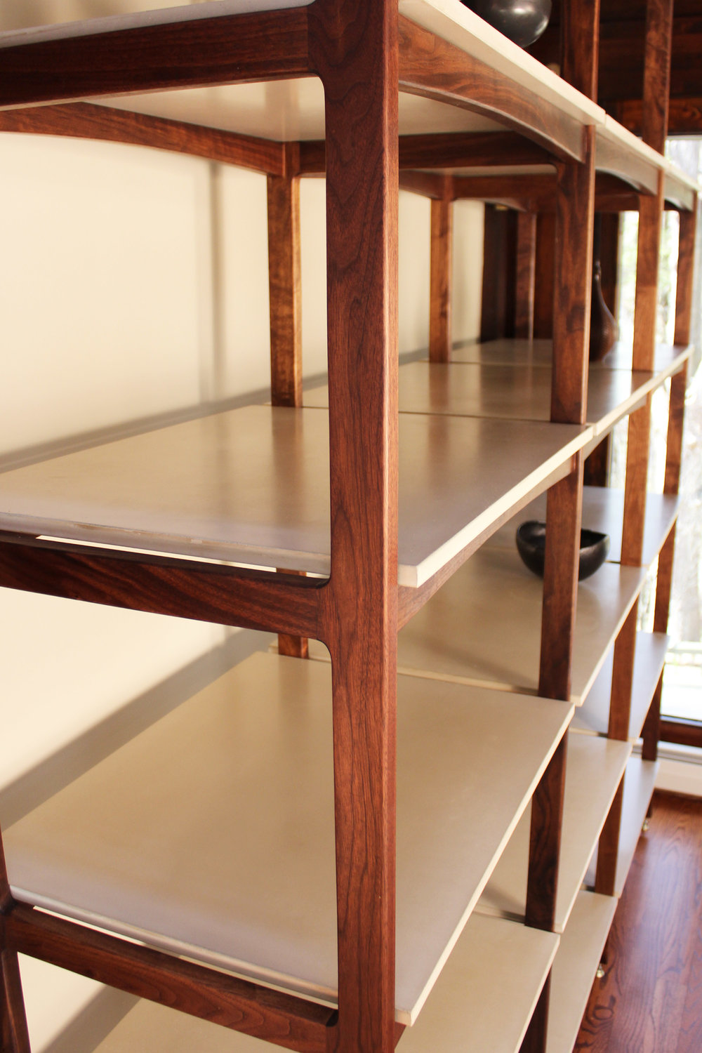 Detail of walnut joinery