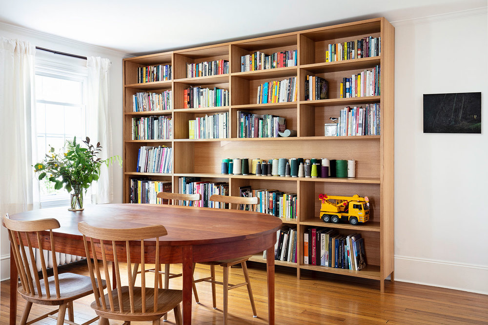 White oak bookcase