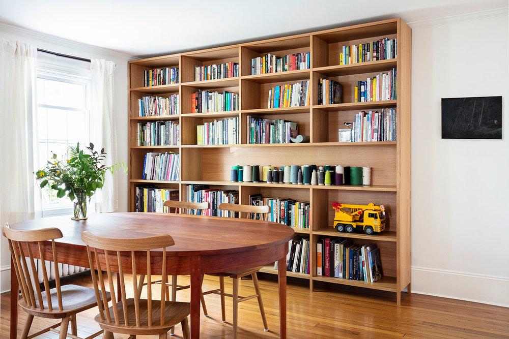 White oak bookcase