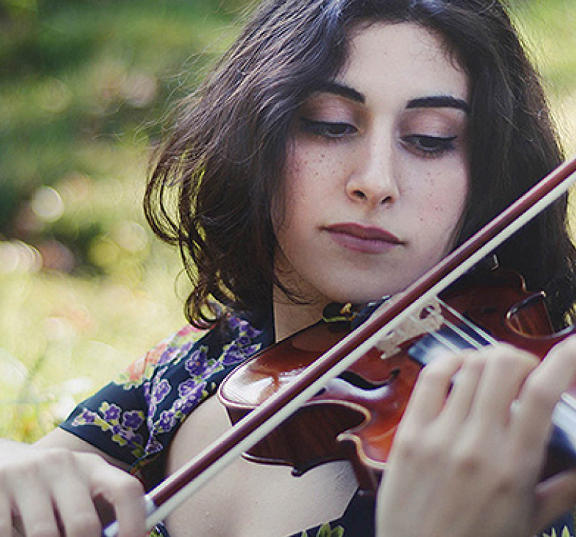 Layale Chaker: Iphigenia, Violin   Winner of the Ruth Anderson Competition, 2017, Layale started music at age 8 at the National Higher Conservatory of Beirut in her native Lebanon, at the Conservatoire de Paris-CRR, Columbia University in New York, and at the Royal Academy of Music in London. She has appeared as a soloist, performer, improviser and composer in concerts, recitals and projects around Europe, the Middle-East, North and South America and Asia. Upcoming in 2018: Solo violin and orchestra in Oxford, performances at Université de Bordeaux, Sorbonne-Université, MUCEM Museum, Walton Theatre, Cité Internationale des Arts, and Konzerthaus Berlin.   layalechaker.com