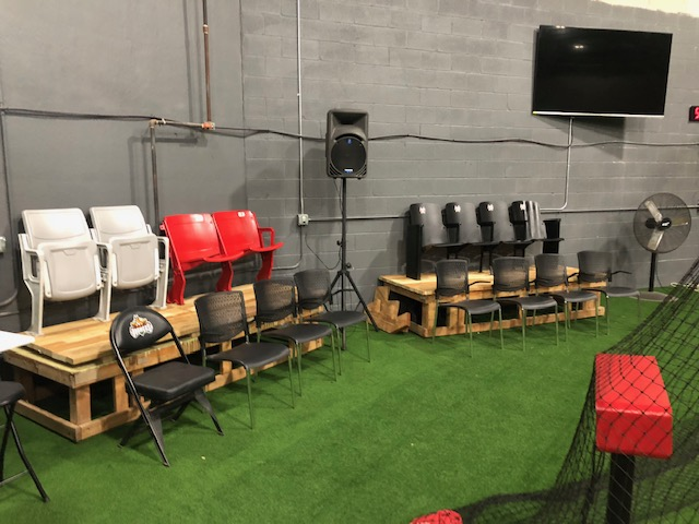 HitTrax Lounge - Bleacher Seating