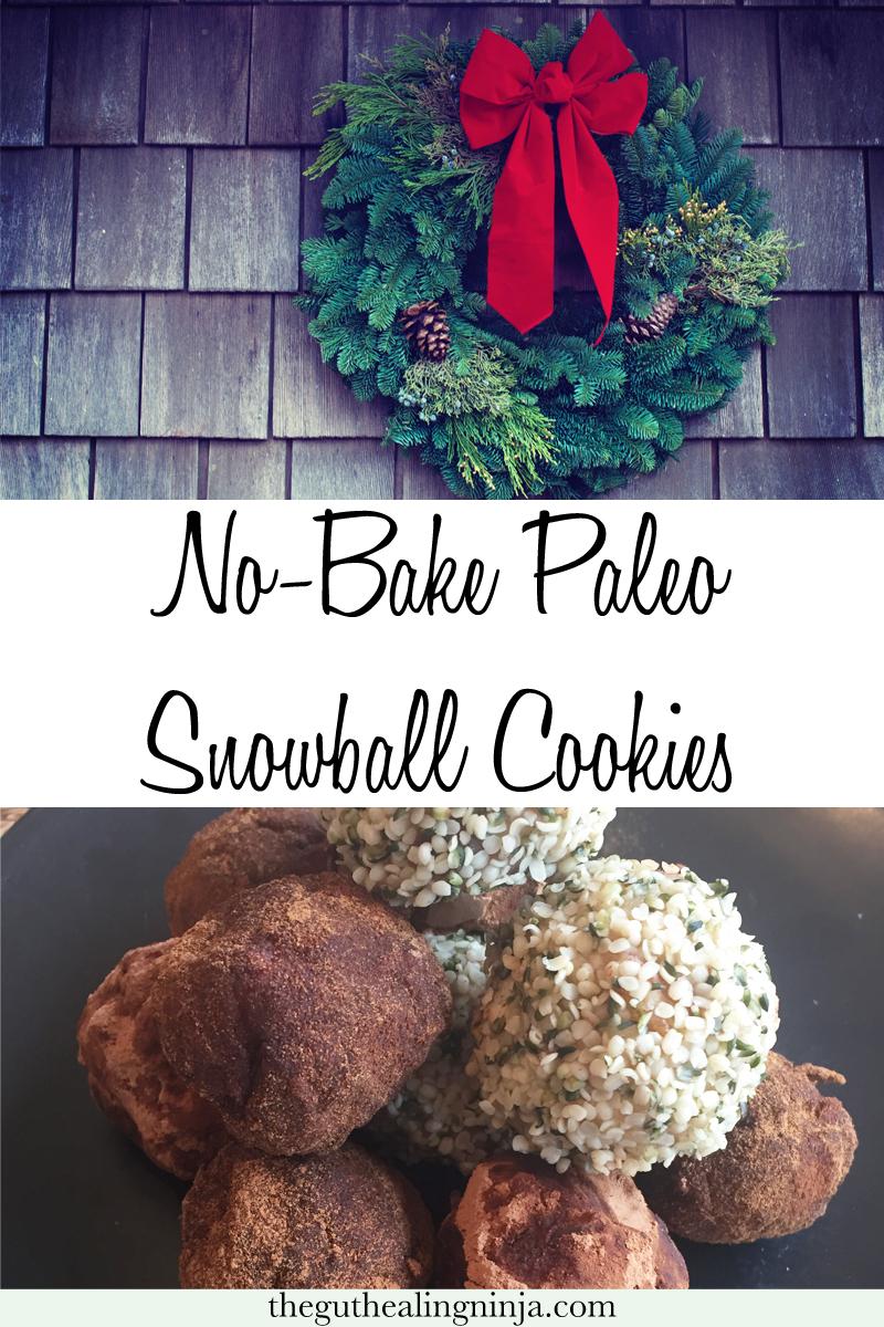 No-Bake Paleo Snowball Cookies | The Gut Healing Ninja