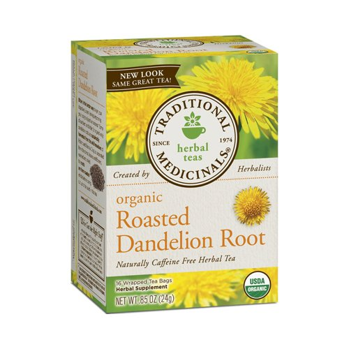 Roasted Dandelion Root Tea - My go-to tea for its hint-of-chocolate flavor and liver loving properties.