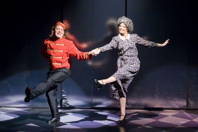 Chris Gracia  (Eddie ) &  Betty Samarjia  (Grandmother)