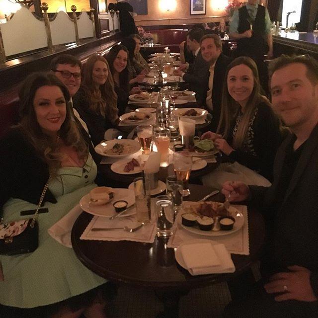 Q+Cathy's pre-wedding dinner at @metropolitainbrasserie let the celebrations begin! 🎉🍾 🥂