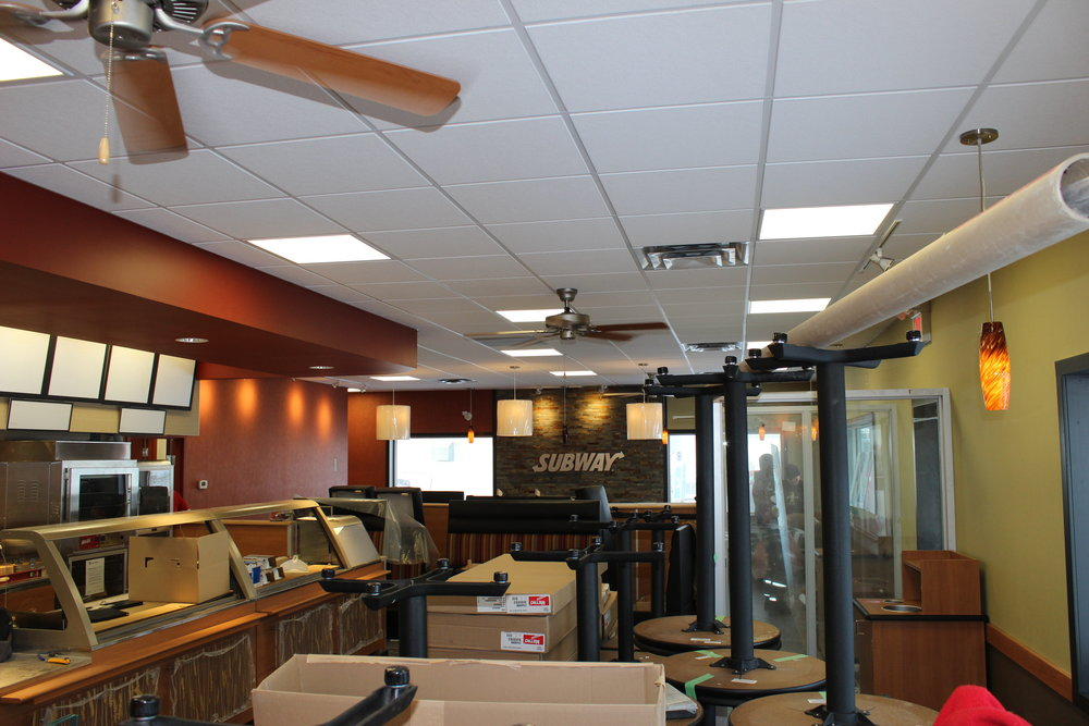 Subway - Grassland  Located at HWY 55 & Main Street, Grassland AB  A Tenant Improvement to an existing CRU building.