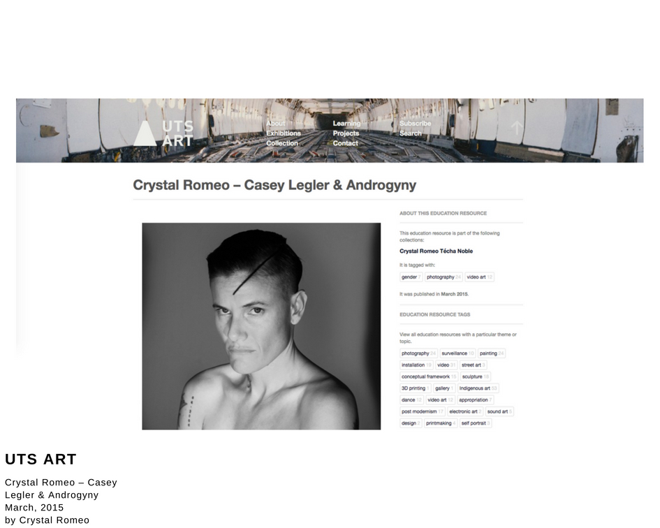 Casey Legler & Androgyny