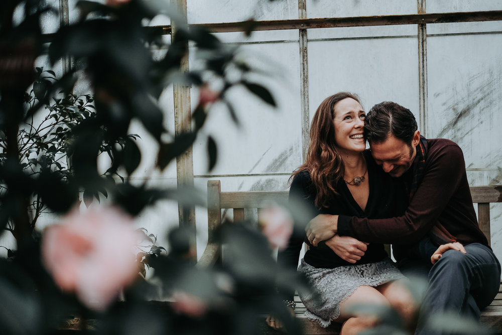 Greenhouse Engagement Shoot in Long Island