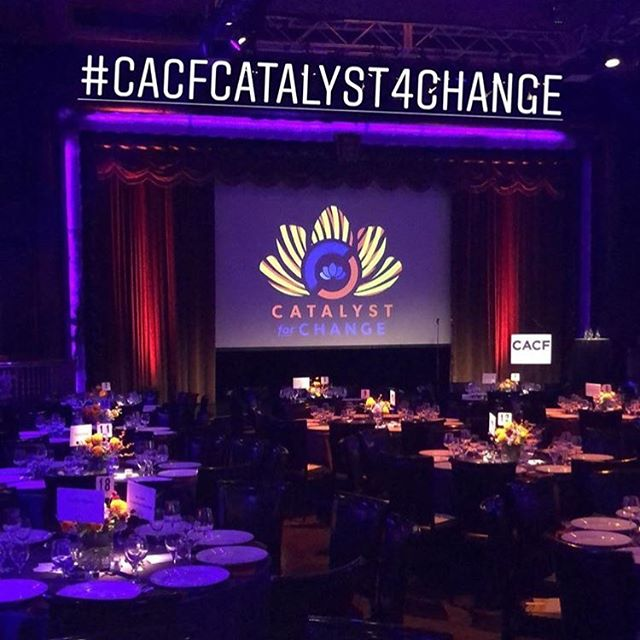 Congrats to @cacfnyc for another impactful year. We are honored to design the event identity for this year's #cacfcatalyst4change awards.  #graphicdesign #eventidentity #logo #design #eventdesign #cacfnyc #good #nyc #edisonballroom